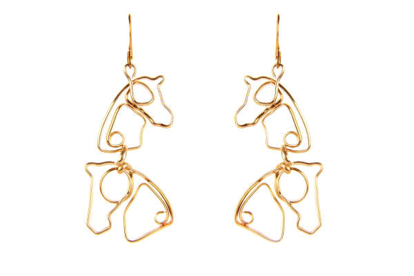 Double horse head, gold filled, $$85.0000