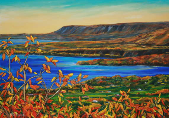 "Escarpment, acrylic, 48"" x 72"", $$0.0000"