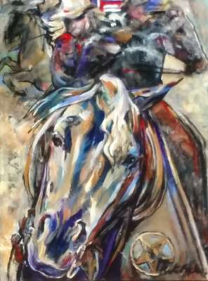 "At The Rodeo, 24"" x18"", $$625.0000"