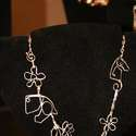 Sterling necklace flowers and horses