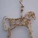 "Saddlebred Horse, gold filled, 3"" wide, $165"